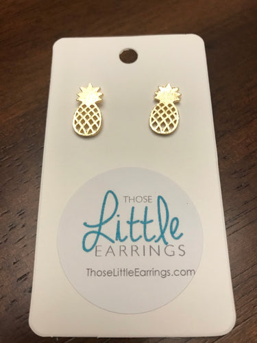 Pineapple Studs - Gold