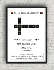 wedding scrabble print