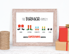 personalised christmas print