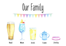 Personalised Family Drinks Print!