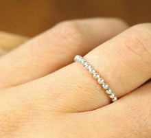 silver bead ring