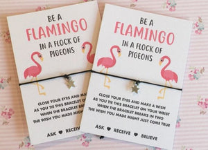 Flamingo wish string