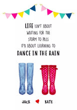 personalised welly print