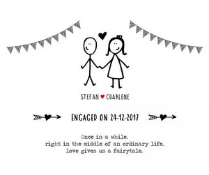personalised engagement print