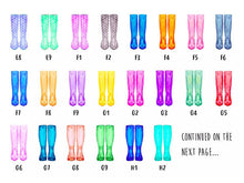 Personalised couples welly print