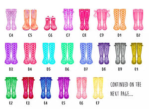 Personalised family wellies print!