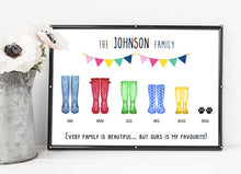 family boots print