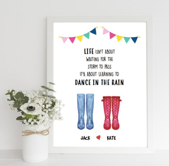 couples welly print