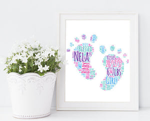 framed christening print