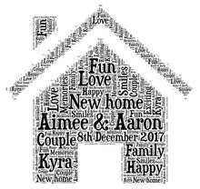 Personalised New Home Word Art Print
