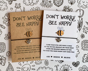 Don't worry bee happy wish bracelet
