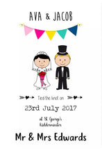 Framed Personalised Wedding Print