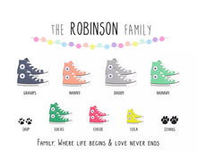 Personalised Family Converse Print