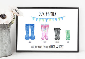 family wellies print