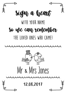 sign you name wedding sign print