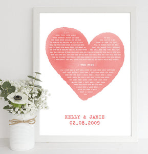 song words print