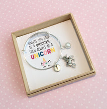 personalised unicorn charm bracelet