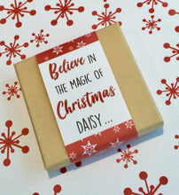 personalised Christmas bracelet gift box