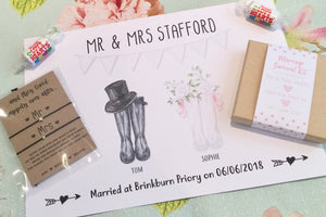 Personalised wedding gift box including goodies!