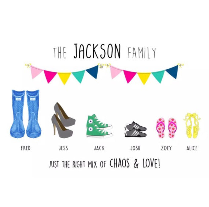 family shoes print