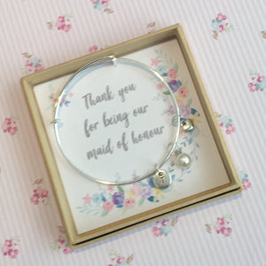 maid of honour charm bracelet