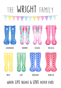 portrait welly boot print