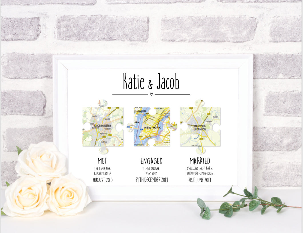 jigsaw puzzle wedding print