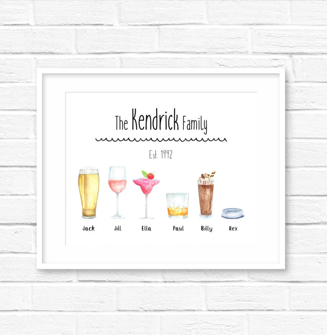 personalised drinks print