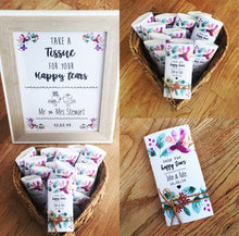 happy tears wedding tissues