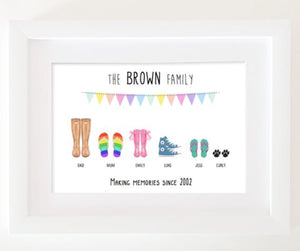 personalised shoes print