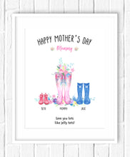 morhers day welly print
