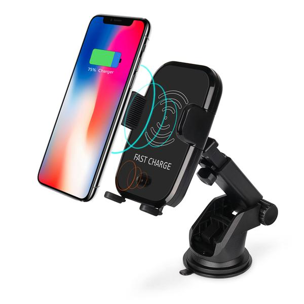 Wireless Charger for Branded Phones: Qi Technology + Sensor + 2 Kinds of Car Mounting