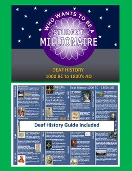 Who Wants To Be a Student Millionaire: Deaf History 1000 BC -1800's