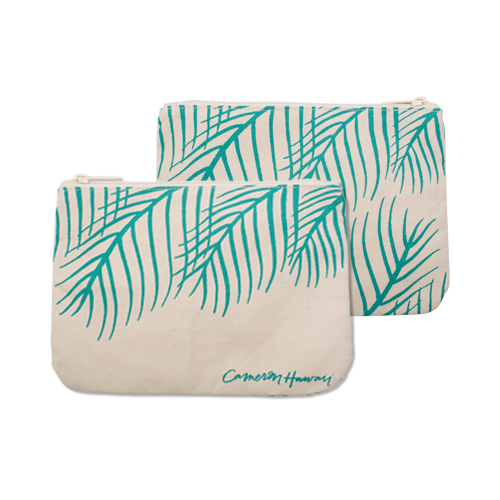 Palm Leaves - Large Clutch - Viridian Green