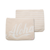 Aloha / 2 Tone Stripe - Large Clutch
