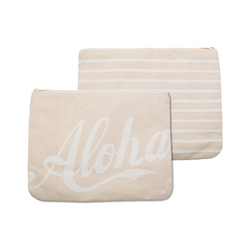 "Cameron Hawaii - Large Clutch ""Aloha / 2 Tone Stripe"""