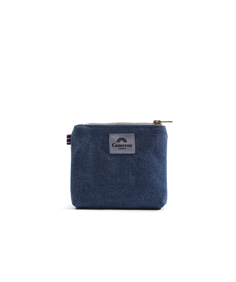 Beach Please- Coin Purse- Light Wash Denim