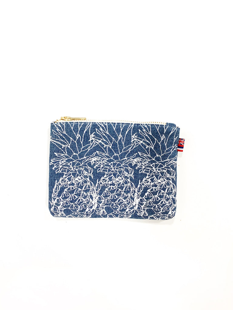 3 Pineapple - Coin Purse - Light Wash Denim