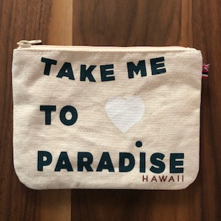 Take Me to Paradise - Small Clutch- Lava