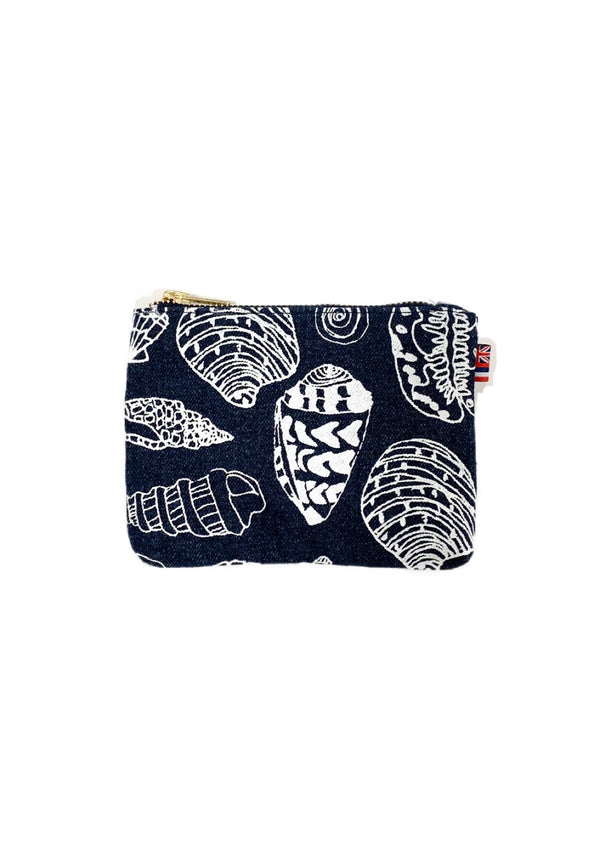 Shell Treasure -Coin Purse- Dark Wash Denim
