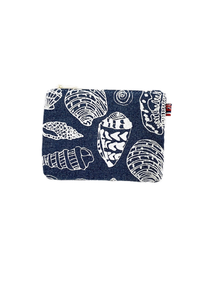 Shell Treasure -Coin Purse- Light Wash Denim