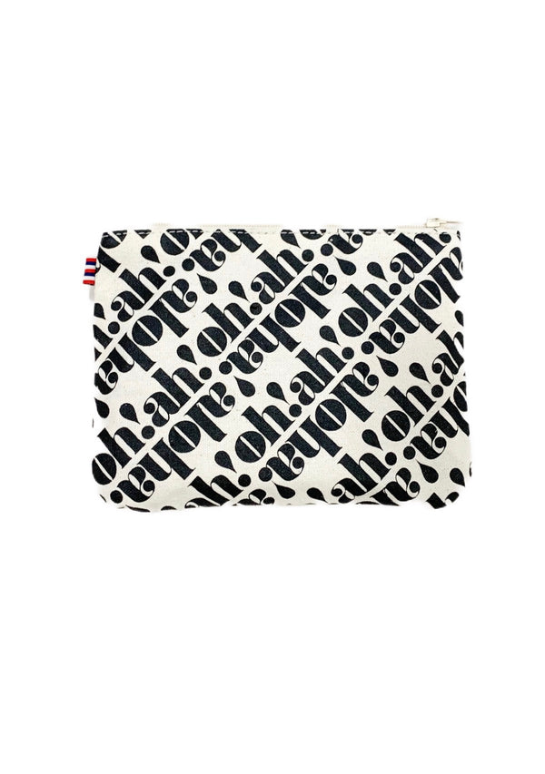 Oh! Ah! Aloha!- Small Clutch- Black