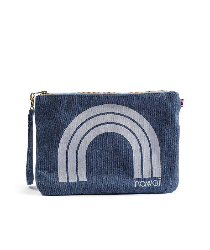 Kawaii Hawaii - Large Clutch - Light Wash Denim