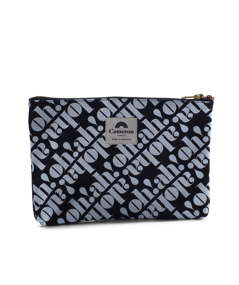 Made in Hawaii- Oh! Ah! Aloha- Denim Clutch-Dark Wash