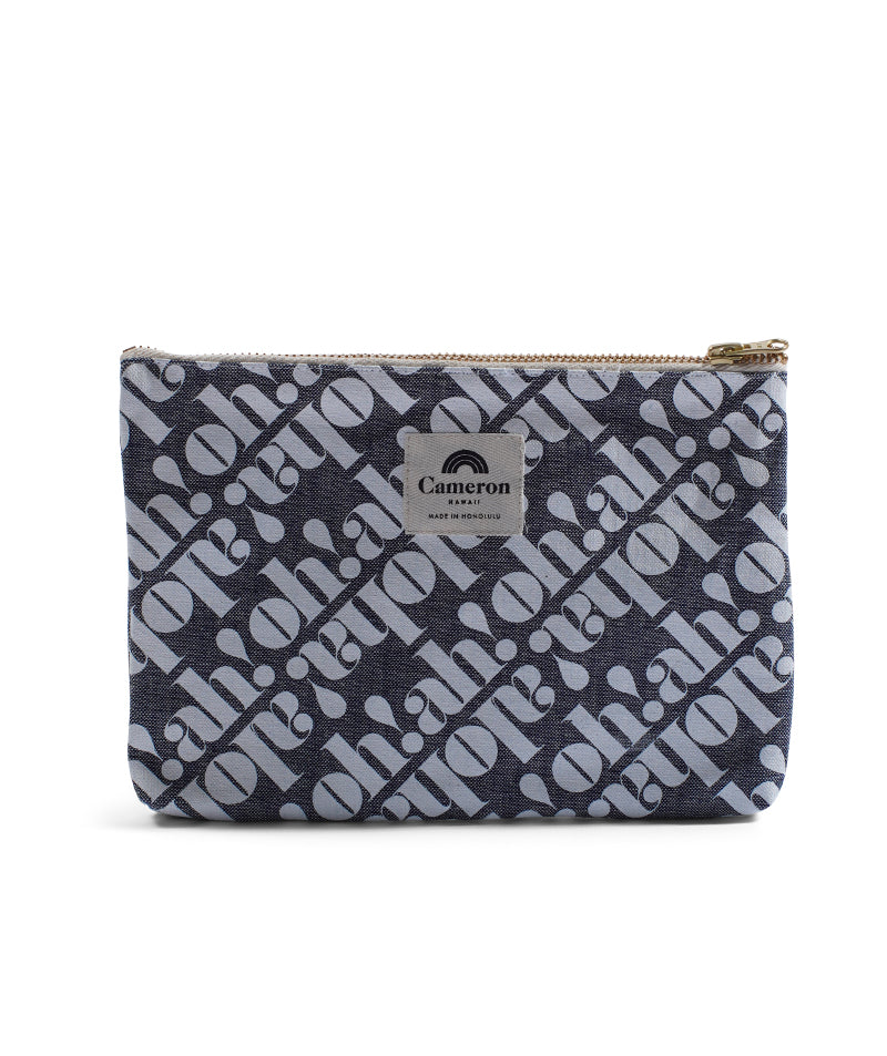 Made In Hawaii - Oh! Ah! Aloha! - Denim Clutch - Light Wash