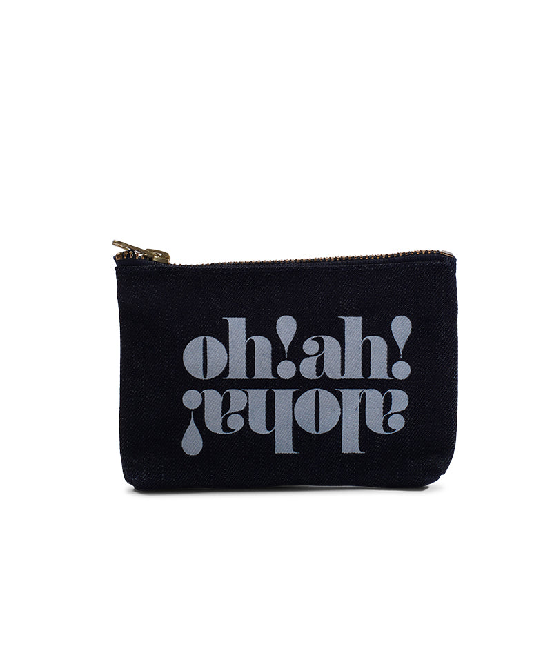 Made in Hawaii- Oh Ah Aloha- Coin Purse- Dark Wash