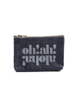 Made in Hawaii - Oh Ah Aloha- Coin Purse-Light Wash