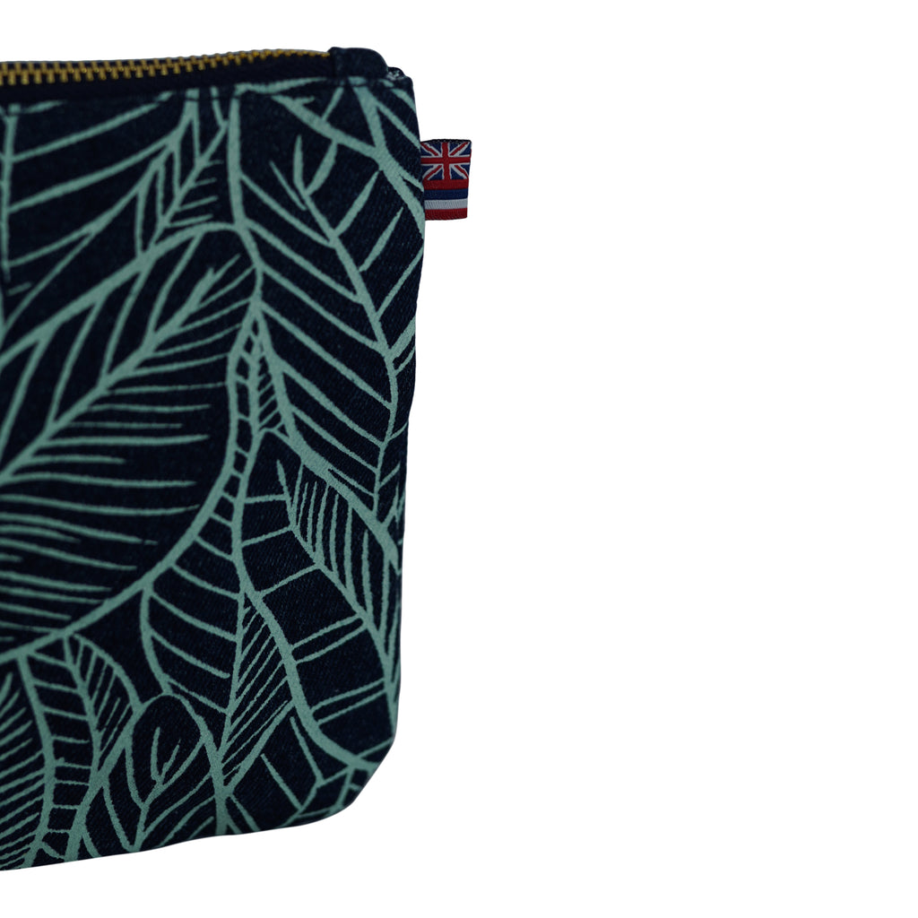 Banana Leaves - Large Clutch - Dark Wash / Mint