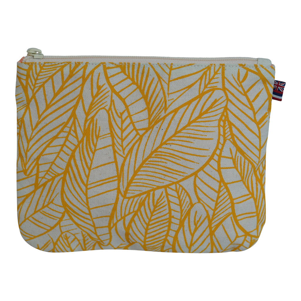 Banana Leaves - Small Clutch - Canvas / Lemon