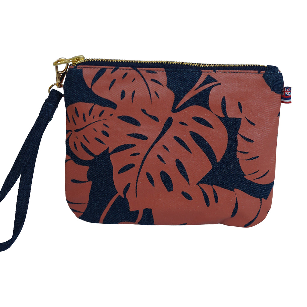 Monstera - Small Clutch - Dark Wash / Tulip